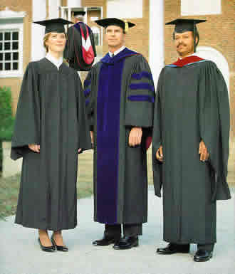 graduation gowns - college cap and gown