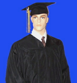 Bachelors cap and gowns for graduation ceremonies