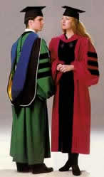 Doctoral gowns and PhD gown to go with tam and hood for academic ...