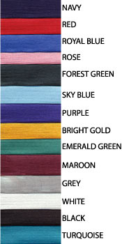 graduation cap and gowns color swatches