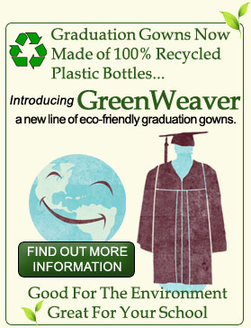 eco friendly graduation gowns